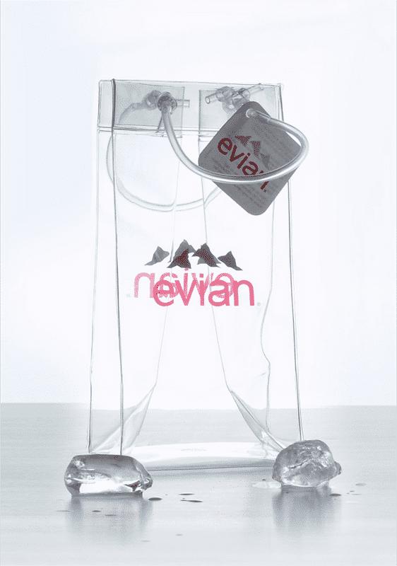 Sac à glaçon Evian